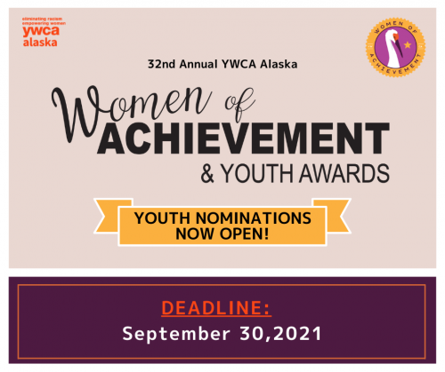 Youth Nominations Now Open! Deadline: September 30, 2021
