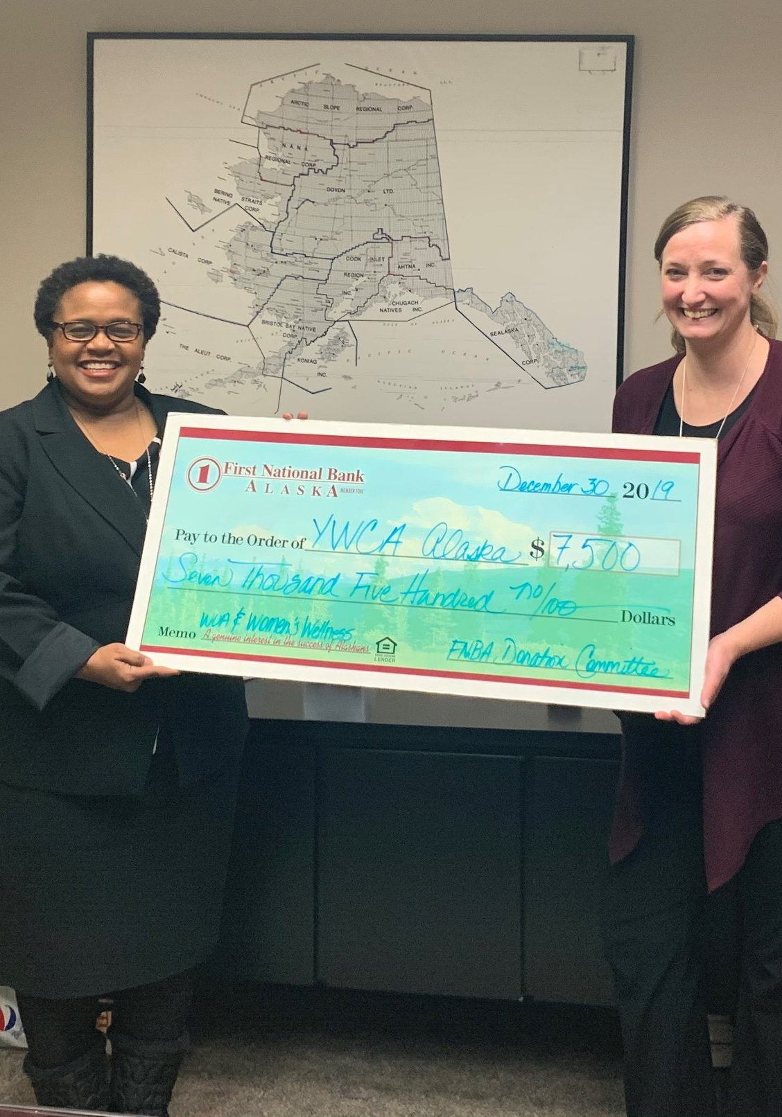 Donation by First National Bank of Alaska
